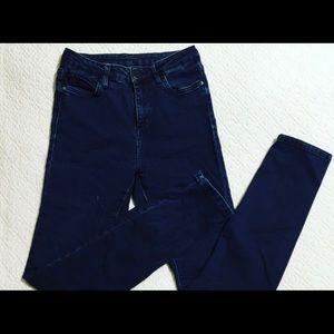 TopShop moto Jeans dark wash